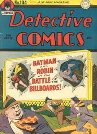 Cover Thumbnail for Detective Comics (DC, 1937 series) #104