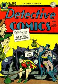 Cover Thumbnail for Detective Comics (DC, 1937 series) #105