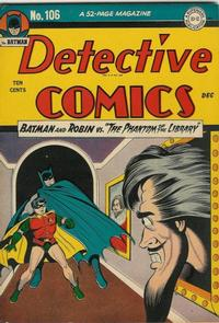 Cover Thumbnail for Detective Comics (DC, 1937 series) #106