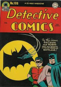 Cover Thumbnail for Detective Comics (DC, 1937 series) #108
