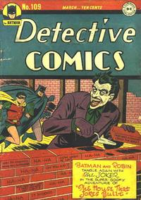Cover Thumbnail for Detective Comics (DC, 1937 series) #109