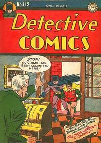 Cover Thumbnail for Detective Comics (DC, 1937 series) #112