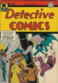 Cover Thumbnail for Detective Comics (DC, 1937 series) #113