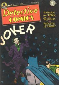 Cover Thumbnail for Detective Comics (DC, 1937 series) #114