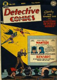 Cover Thumbnail for Detective Comics (DC, 1937 series) #141