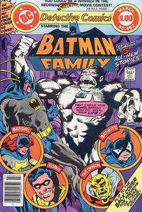 Cover Thumbnail for Detective Comics (DC, 1937 series) #482