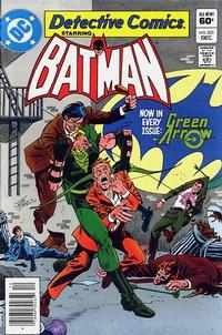 Cover Thumbnail for Detective Comics (DC, 1937 series) #521 [Newsstand]