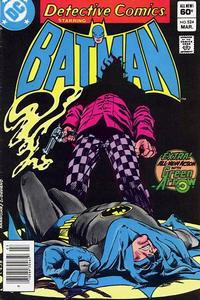 Cover Thumbnail for Detective Comics (DC, 1937 series) #524 [Newsstand]