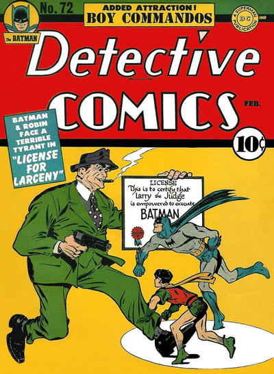 Cover for Detective Comics (DC, 1937 series) #72