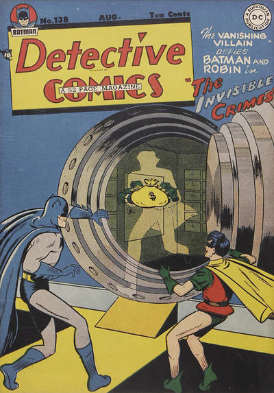 Cover for Detective Comics (DC, 1937 series) #138