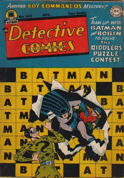 Cover for Detective Comics (DC, 1937 series) #142