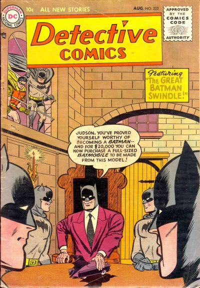 Cover for Detective Comics (DC, 1937 series) #222