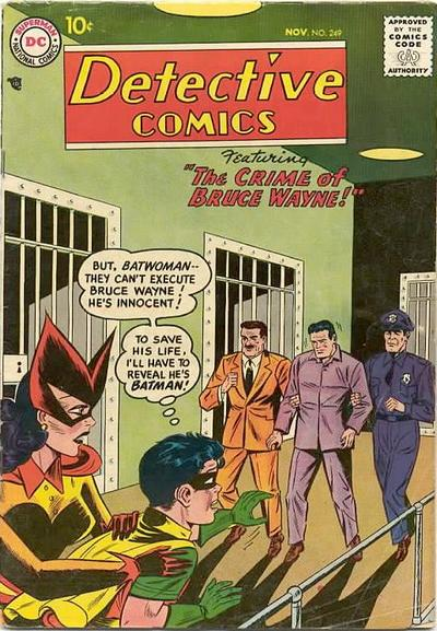 Cover for Detective Comics (DC, 1937 series) #249