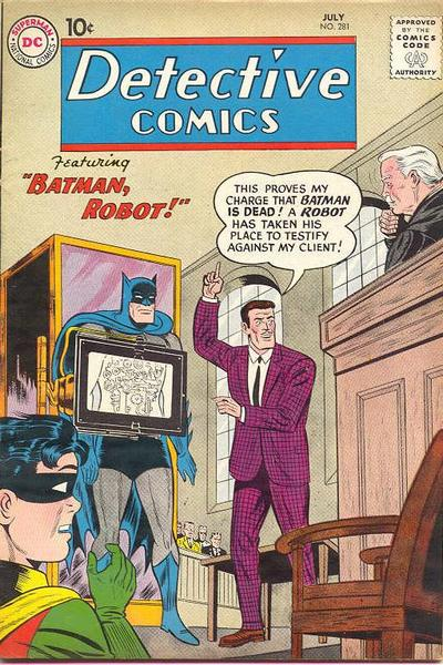 Cover for Detective Comics (DC, 1937 series) #281