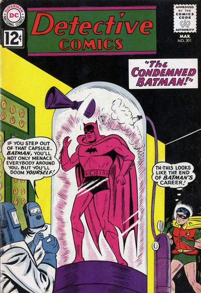 Cover for Detective Comics (DC, 1937 series) #301