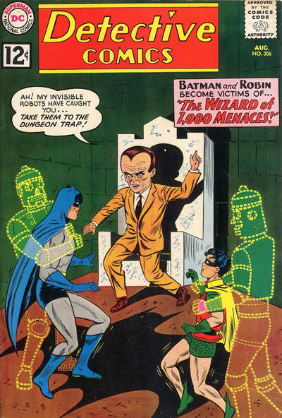 Cover for Detective Comics (DC, 1937 series) #306