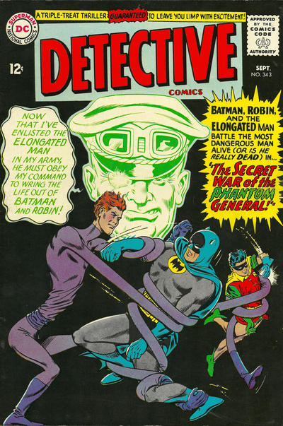 Cover for Detective Comics (DC, 1937 series) #343