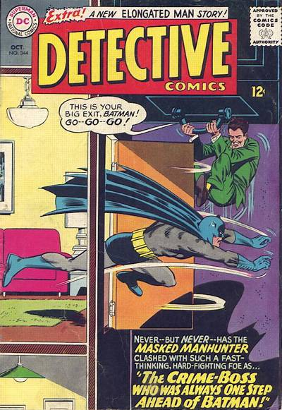 Cover for Detective Comics (DC, 1937 series) #344