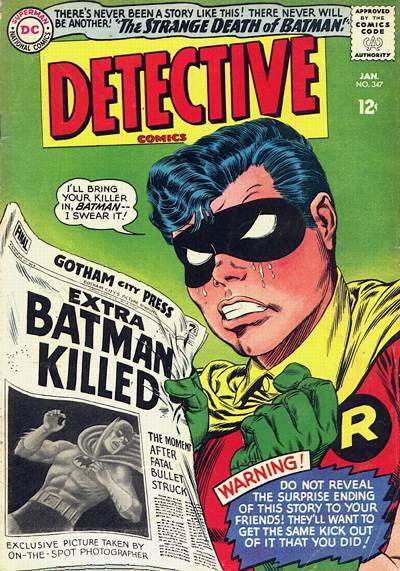 Cover for Detective Comics (DC, 1937 series) #347