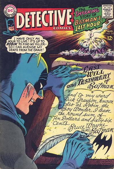 Cover for Detective Comics (DC, 1937 series) #366