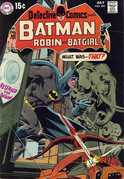Cover for Detective Comics (DC, 1937 series) #401