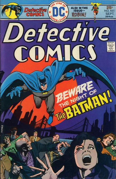 Cover for Detective Comics (DC, 1937 series) #451