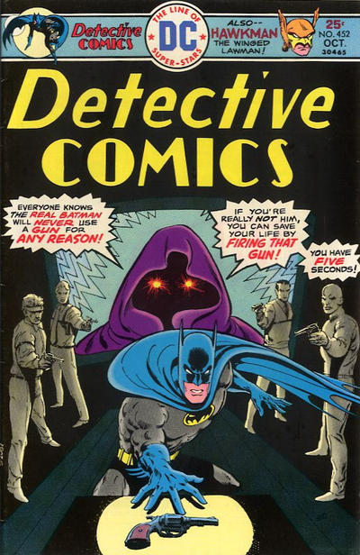 Cover for Detective Comics (DC, 1937 series) #452