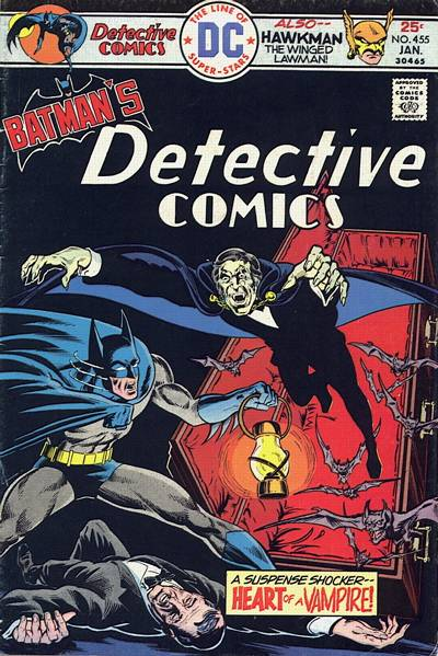 Cover for Detective Comics (DC, 1937 series) #455