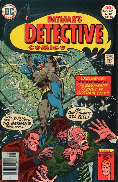Cover for Detective Comics (DC, 1937 series) #465