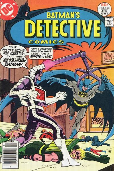 Cover for Detective Comics (DC, 1937 series) #468