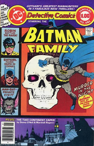 Cover for Detective Comics (DC, 1937 series) #481