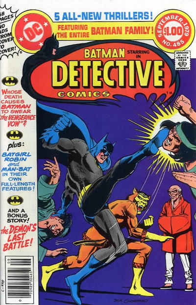 Cover for Detective Comics (DC, 1937 series) #485