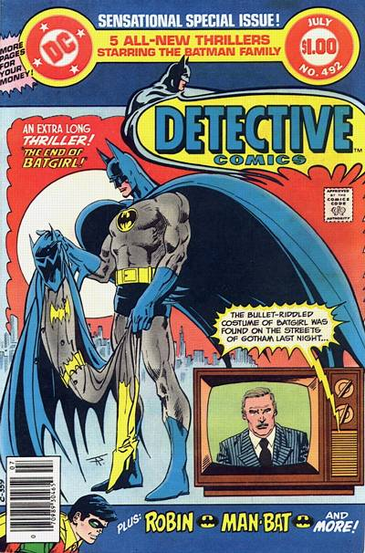 Cover for Detective Comics (DC, 1937 series) #492