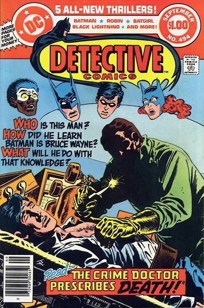 Cover for Detective Comics (DC, 1937 series) #494
