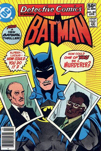 Cover for Detective Comics (DC, 1937 series) #501 [Direct Edition]