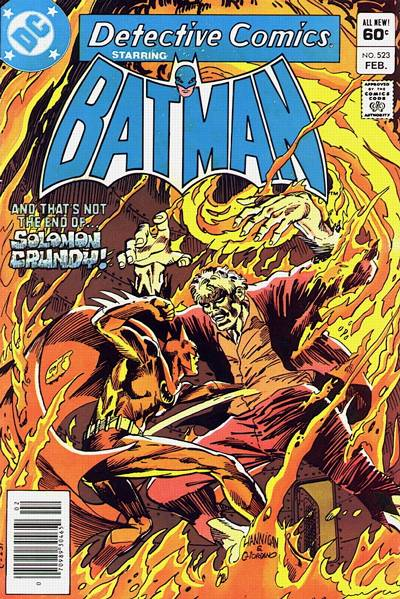 Cover for Detective Comics (DC, 1937 series) #523 [Direct Sales]