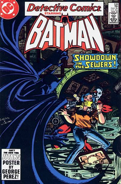 Cover for Detective Comics (DC, 1937 series) #536 [direct-sales]