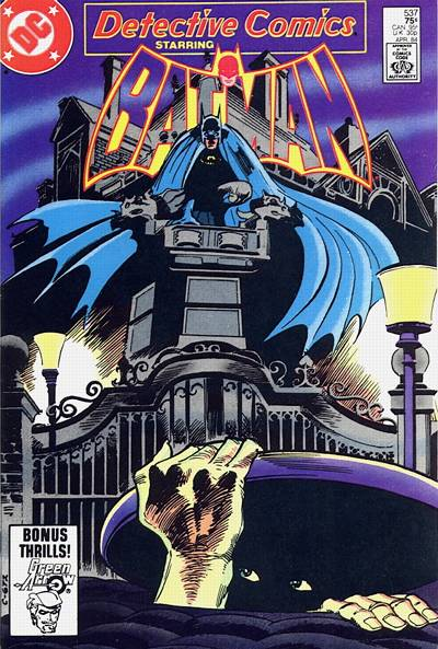 Cover for Detective Comics (DC, 1937 series) #537 [Direct]