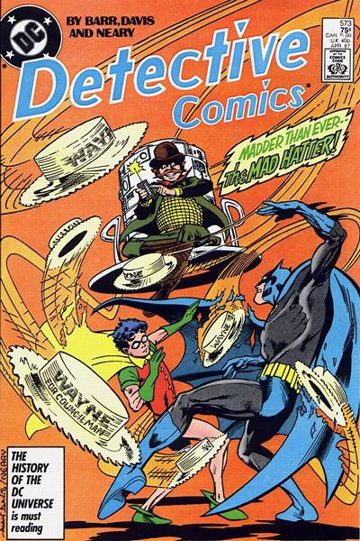 Cover for Detective Comics (DC, 1937 series) #573