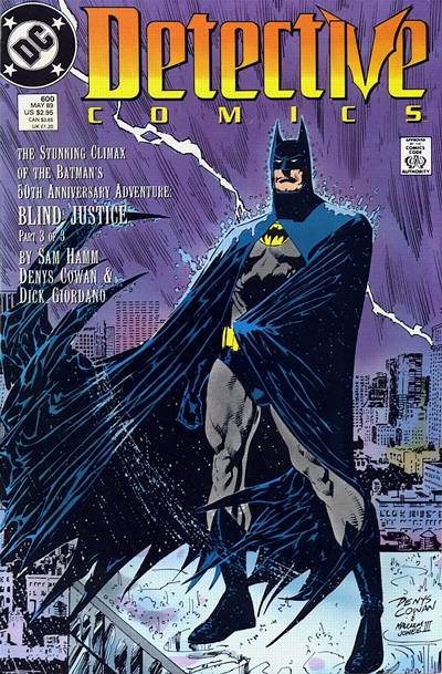 Cover for Detective Comics (DC, 1937 series) #600 [Newsstand]