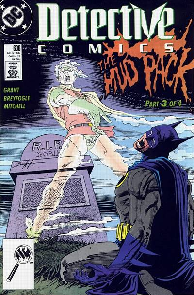 Cover for Detective Comics (DC, 1937 series) #606 [Newsstand]