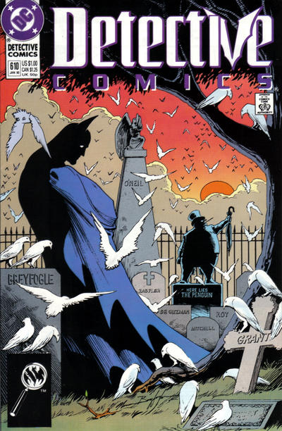 Cover for Detective Comics (DC, 1937 series) #610 [Newsstand]