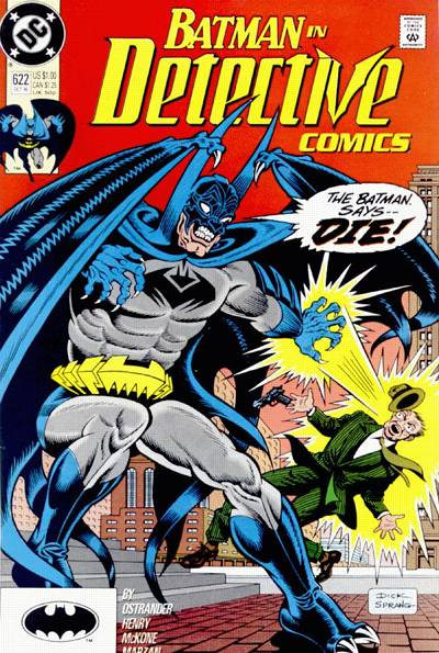 Cover for Detective Comics (DC, 1937 series) #622 [Newsstand]