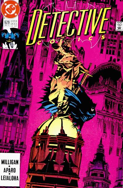 Cover for Detective Comics (DC, 1937 series) #629