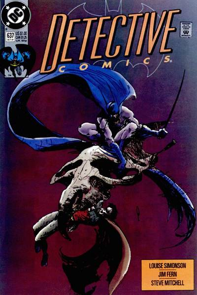 Cover for Detective Comics (DC, 1937 series) #637