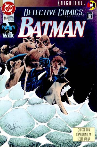 Cover for Detective Comics (DC, 1937 series) #663 [Newsstand]
