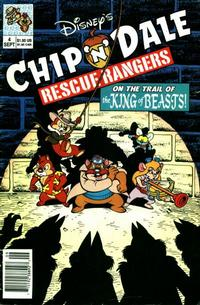 Cover Thumbnail for Chip 'n' Dale Rescue Rangers (Disney, 1990 series) #4 [Newsstand Edition]