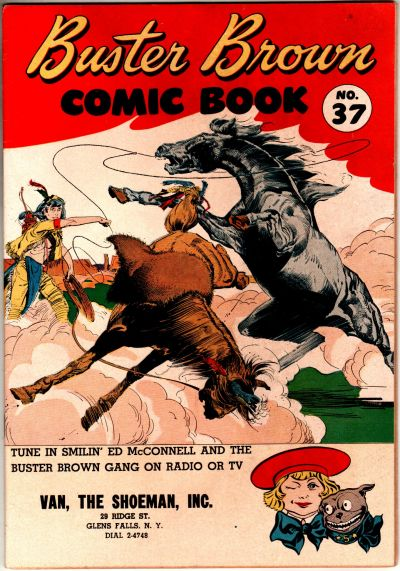 Cover for Buster Brown Comic Book (Brown Shoe Co., 1945 series) #37