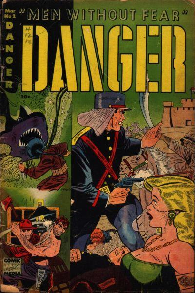 Cover for Danger (Comic Media, 1953 series) #2