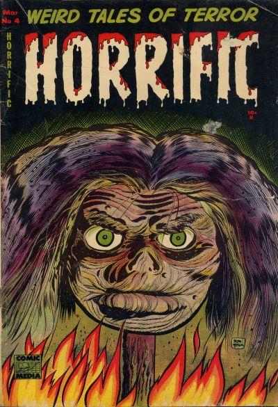 Cover for Horrific (Comic Media, 1952 series) #4